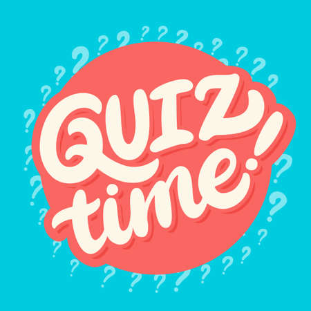 Quiz time. Vector lettering banner.  イラスト・ベクター素材