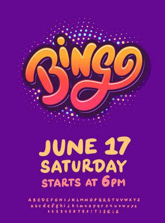 Bingo. Vector invitation flyer.