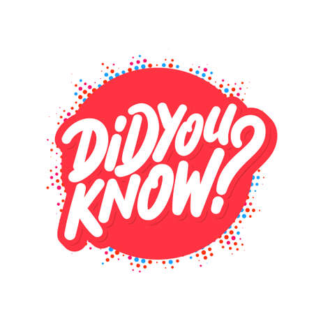 Did you know. Vector banner.