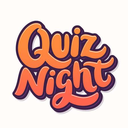 Quiz time. Vector lettering banner. Çizim