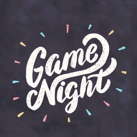 Game night banner. Çizim