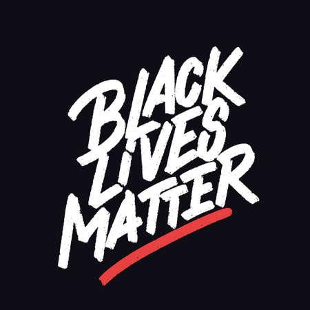 Black lives matters. Vector lettering poster. Çizim