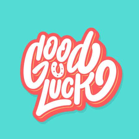 Good luck. Farewell card. Vector lettering. Vecteurs