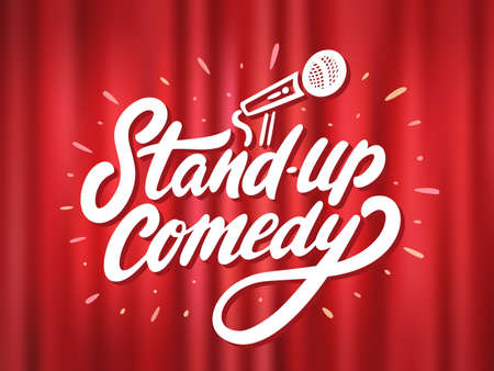 Stand-up comedy. Vector background.