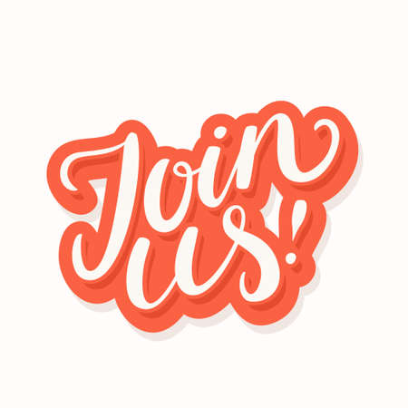 Join us. Vector lettering banner. 스톡 콘텐츠 - 151094620