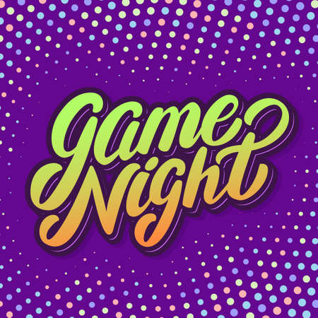 Game night banner. 일러스트