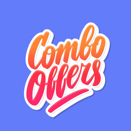 Combo offers. Vector hand drawn lettering banner.