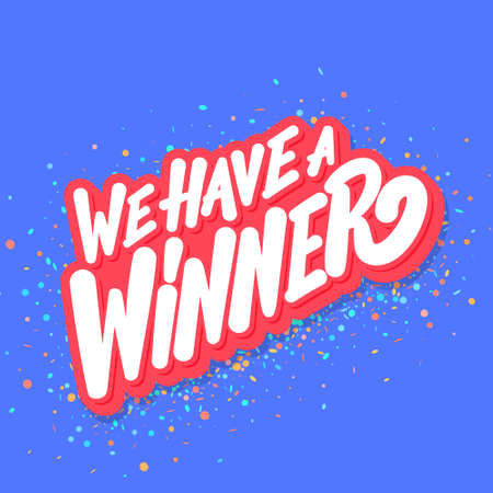 We have a Winner. Vector banner. 일러스트