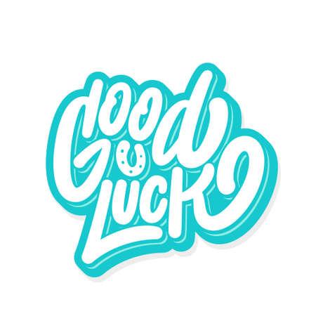 Good luck. Farewell card. Vector lettering. 向量圖像