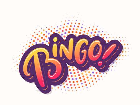 Bingo. Vector card.