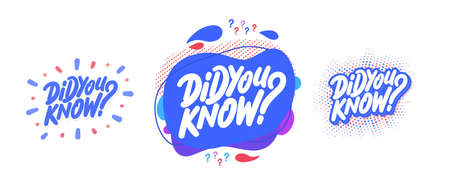 Did you know. Vector banners.