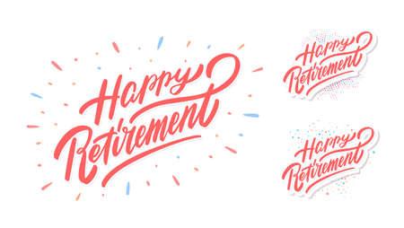 Happy Retirement banners vector set.