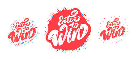 Enter to win. Vector banners set.