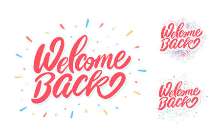 Welcome back. Vector lettering banners.