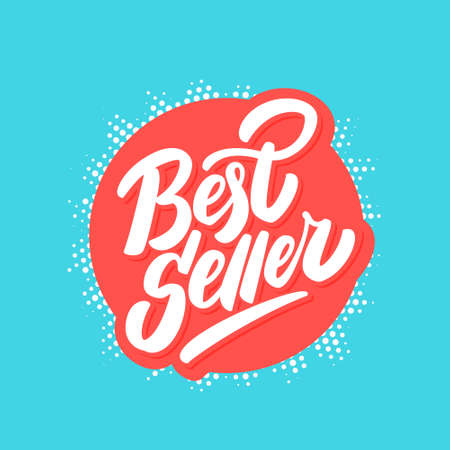 Best seller. Vector lettering icon.