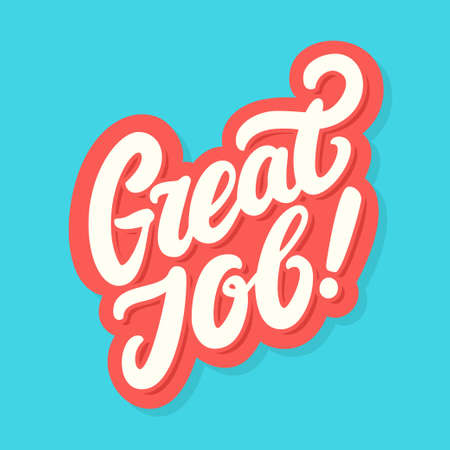 Great Job vector lettering banner. 일러스트
