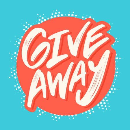 Giveaway banner. Vector hand drawn lettering.