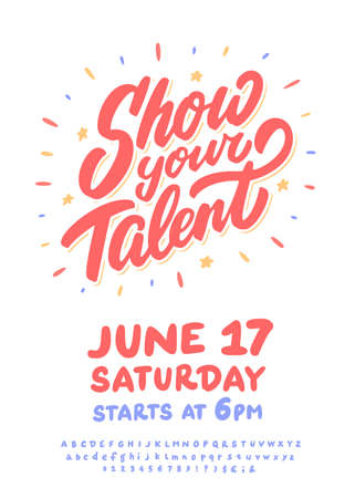 Show your talent. Vector invitation template.