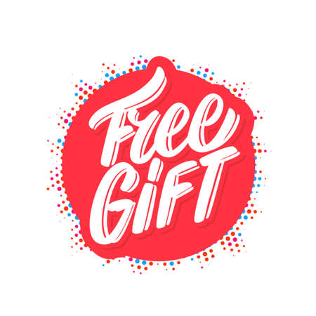 Free gift. Vector lettering banner.