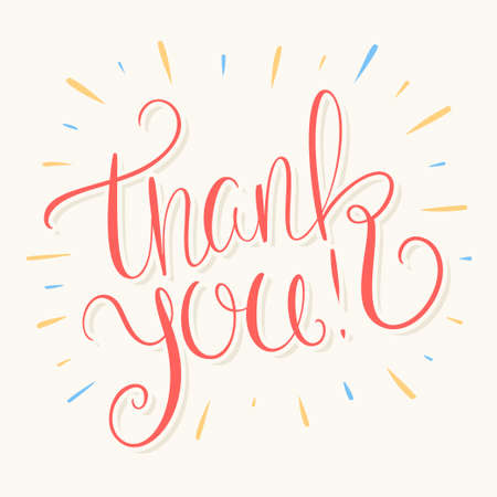 Thank you. Vector lettering card.