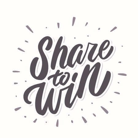 Share to win. Vector banner. 일러스트