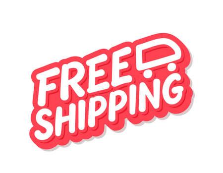 Free shipping. Vector lettering icon. Иллюстрация
