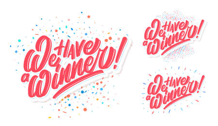 We have a Winner. Vector banners set.