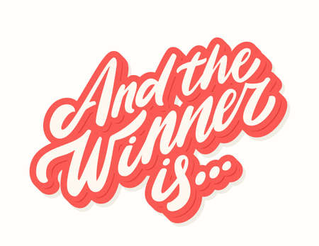 And the winner is... Vector lettering. Иллюстрация