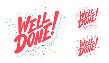Well done. Vector lettering banners set.