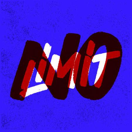 No limit. Motivation poster. Vector lettering. Иллюстрация
