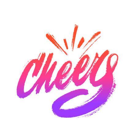 Cheers Greeting card. Vector calligraphy.