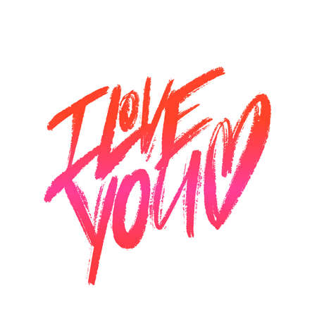 I love you Vector calligraphy. 矢量图像