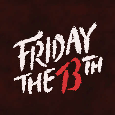 Friday the 13th. Vector hand drawn lettering.