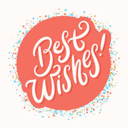 Best wishes. Vector lettering greeting card.