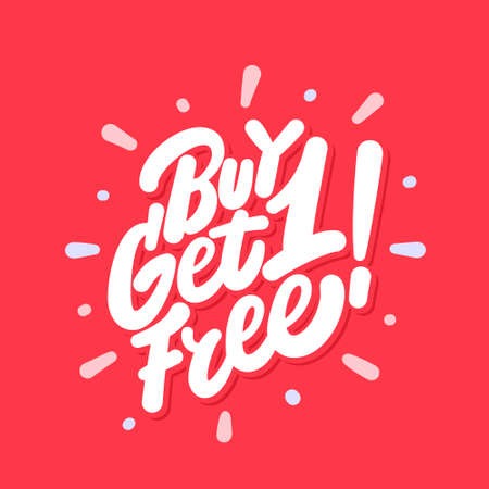 Buy one get one free. Vector icon.