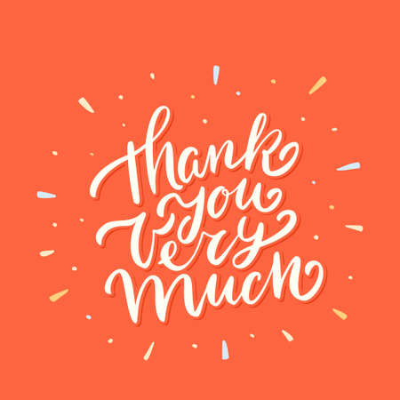 Thank you very much. Vector lettering card.