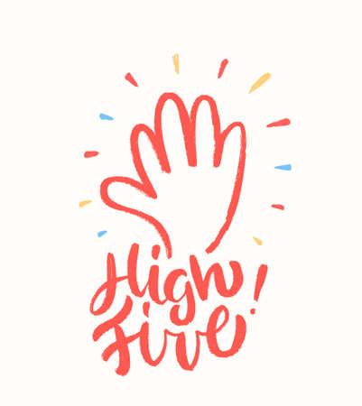 High five. Greeting card.