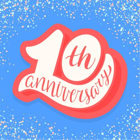 10th anniversary card.
