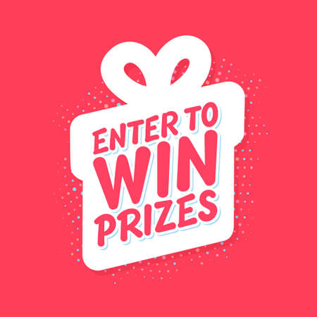 Enter to win prizes. Vector banner. 일러스트