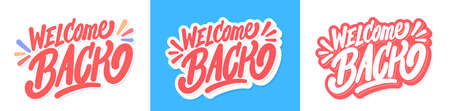 Welcome back Vector lettering banners set. 일러스트