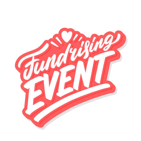 Fundraising event. Vector lettering banner.