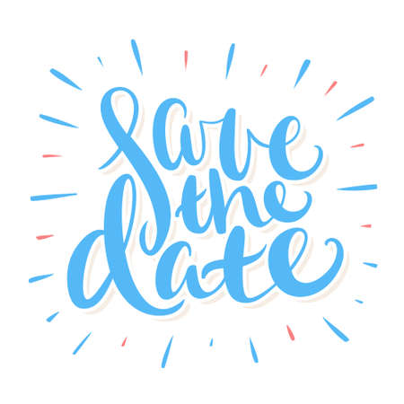 Save the date. Vector handwritten lettering. Ilustrace