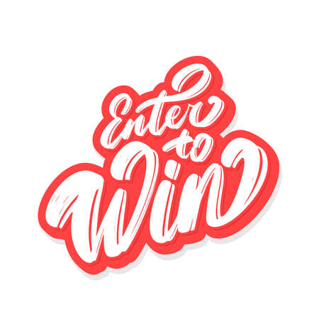 Enter to win. Vector handwritten lettering. Ilustrace