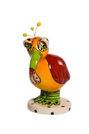 dodo: Ceramic figurine dodo birds isolated on a white background