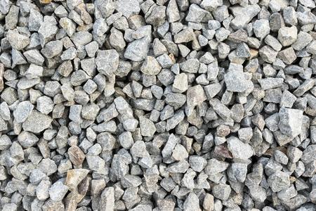 gravelly: Background of stone rubble large fraction gray horizontal orientation Stock Photo
