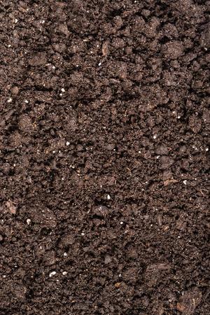 black soil: Black soil with fertilizer particles as a background Stock Photo