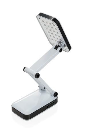 luminaire: Small foldable LED luminaire isolated on white background Stock Photo