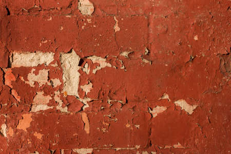 old brick wall and stucco abstract pattern for background.