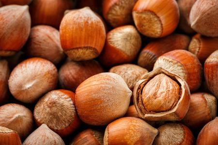 Hazelnuts background 免版税图像