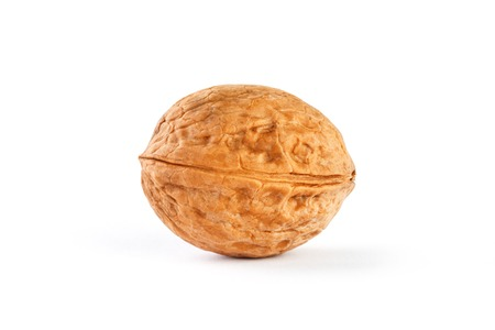 Walnut on white isolated background, clipping path, full depth of field. close up. Stock Photo - 122954565